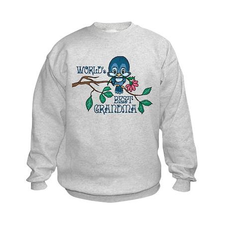 Birdie Best Grandma Kids Sweatshirt