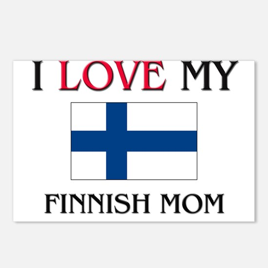 I Love My Finnish Mom Postcards (Package of 8)