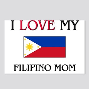I Love My Filipino Mom Postcards (Package of 8)