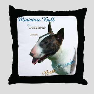 Mini Bull Best Friend 1 Throw Pillow