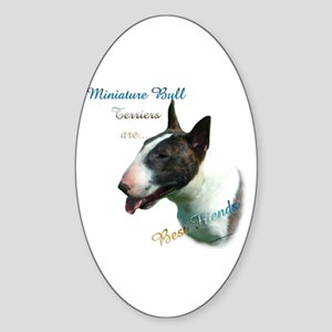 Mini Bull Best Friend 1 Oval Sticker