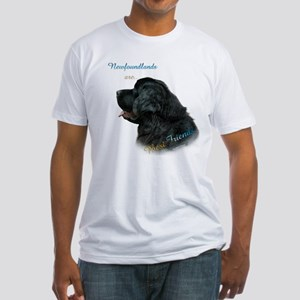 Newfie Best Friend 1 Fitted T-Shirt