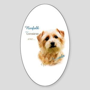 Norfolk Best Friend 1 Oval Sticker