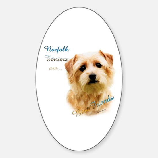 Norfolk Best Friend 1 Oval Decal