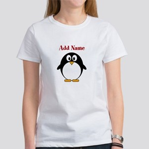 Modern Penguin Add Name T-Shirt