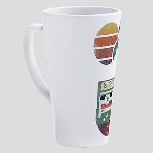 Nostalgic Road Trip Mixtape 17 oz Latte Mug