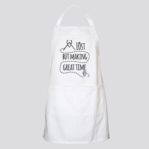 Lost but making great time Light Apron