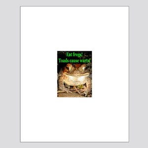 Eat frogs Small Poster