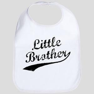 Little Brother (Black Text) Bib