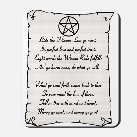 Wiccan Reade Mousepad