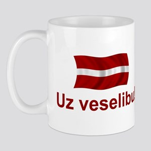 Latvia Uz Veselibu Mug