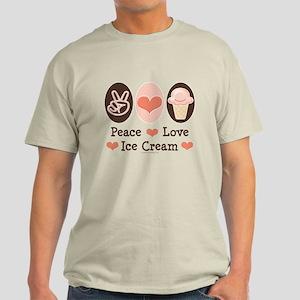 Peace Love Ice Cream Light T-Shirt