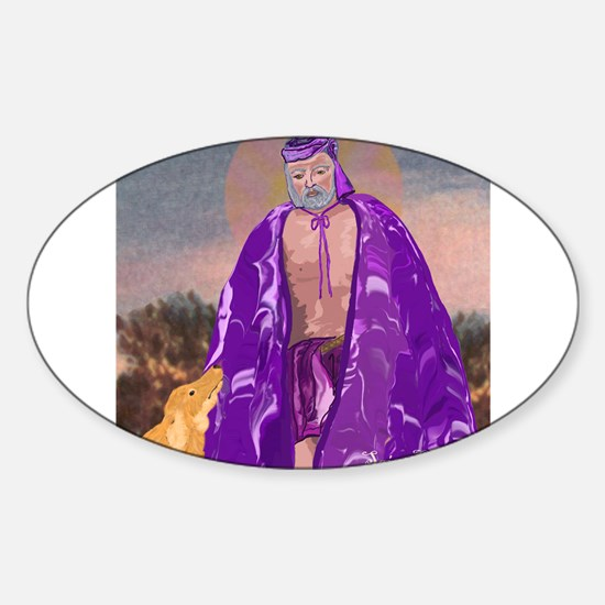 Saint Lazarus Oval Decal
