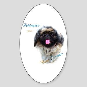 Pekingese Best Friend 1 Oval Sticker