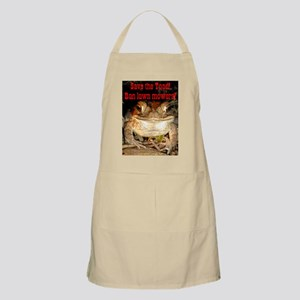 Save the toad BBQ Apron