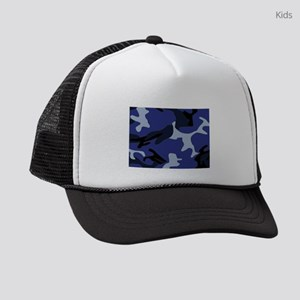 Blue Camo Kids Trucker hat