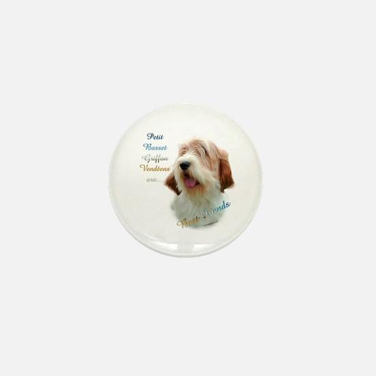 PBGV Best Friend 1 Mini Button