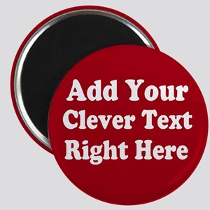 Add Text Background Red White s Magnets