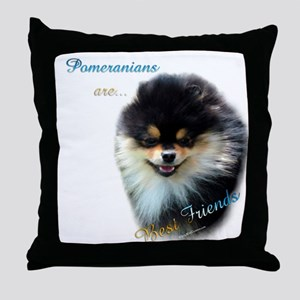 Pomeranian Best Friend 1 Throw Pillow