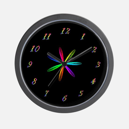 Rainbow Spirograph Clock
