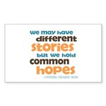 Common Hopes Rectangle Sticker 50 pk)