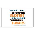Common Hopes Rectangle Sticker