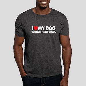 "Sick Humor ""I Love"" Dark T-Shirt"