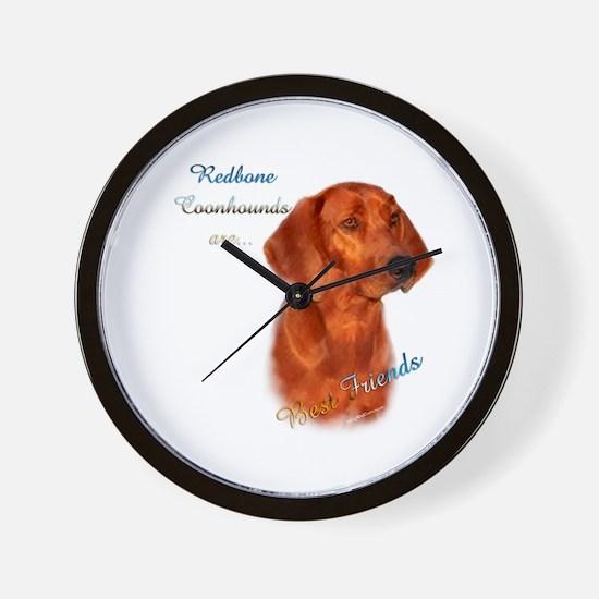 Coonhound Best Friend 1 Wall Clock