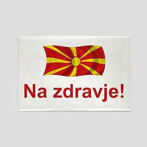 Macedonia Na zdravje Rectangle Magnet