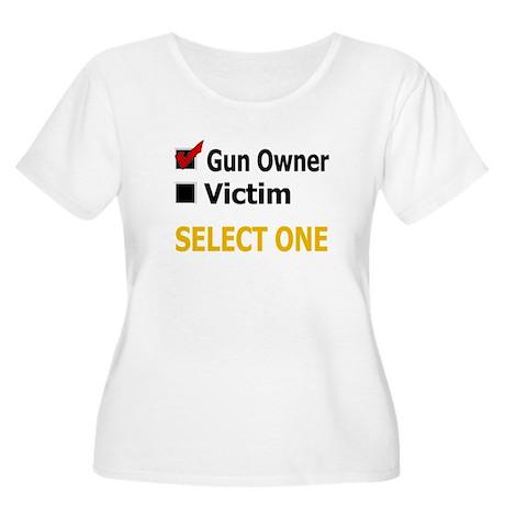 Gun Owner Or Victim Women's Plus Size Scoop Neck T