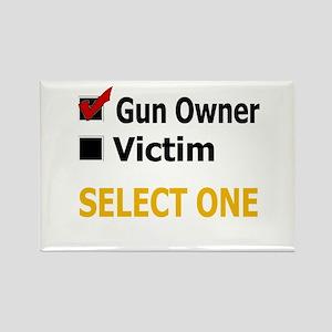 Gun Owner Or Victim Rectangle Magnet