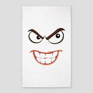SINISTER SMILEY FACE Area Rug