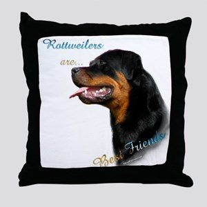 Rottweiler Best Friend 1 Throw Pillow