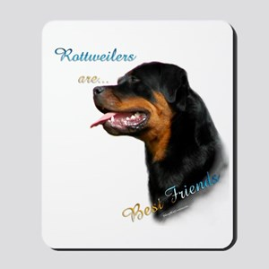 Rottweiler Best Friend 1 Mousepad