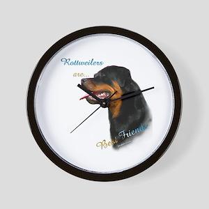 Rottweiler Best Friend 1 Wall Clock