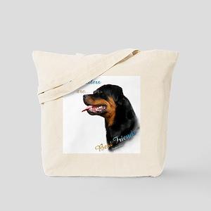 Rottweiler Best Friend 1 Tote Bag
