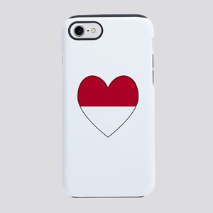 Heart Shaped Indonesian Flag iPhone 8/7 Tough Case