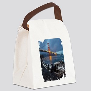 Golden Night Canvas Lunch Bag