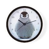 Baby penguins Wall Clocks