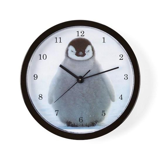 Baby Penguin Clock