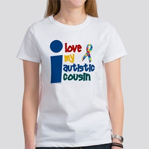 I Love My Autistic Cousin 1 Women's T-Shirt