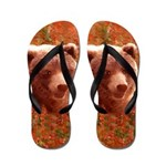 Grizzly Bear Cub in Fireweed Flip Flops