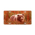 Grizzly Bear Cub in Firewee Aluminum License Plate