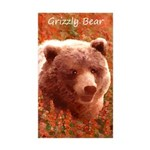 Grizzly Bear Cub in Fire Sticker (Rectangle 10 pk)