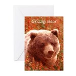 Grizzly Bear Cub in Fire Greeting Cards (Pk of 20)