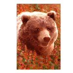 Grizzly Bear Cub in Firew Postcards (Package of 8)