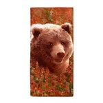 Grizzly Bear Cub in Fireweed Beach Towel