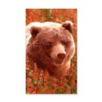 Grizzly Bear Cub in Fireweed 20x12 Wall Decal