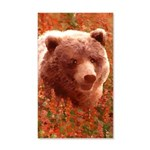 Grizzly Bear Cub in Fireweed 35x21 Wall Decal