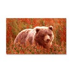 Grizzly Bear Cub in Fireweed Car Magnet 20 x 12